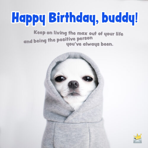 Funny birthday image for best friend.