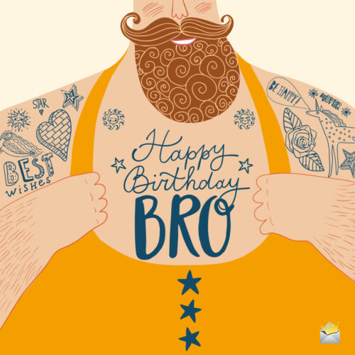 Birthday image for hipster brother.