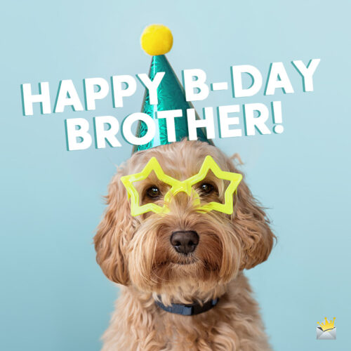 Funny birthday image with brother.