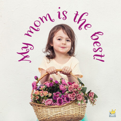 Cute mother's day image for sharing with mom.