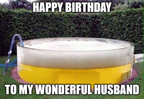 Beer Pool meme for husband's birthday.