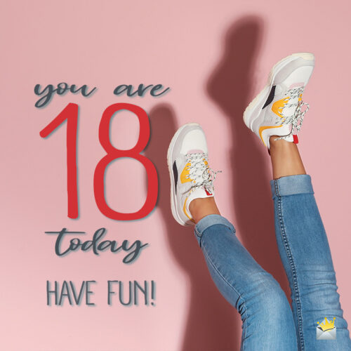 Cute birthday image for 18th birthday.