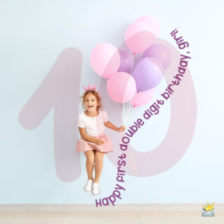 Birthday image for girl's 10th birthday.