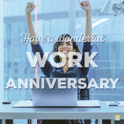 Image for work anniversary.