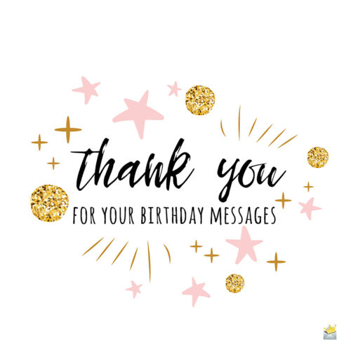 Thank you image for birthday messages.