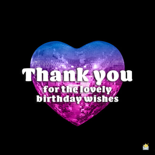Thank you image for birthday wishes.