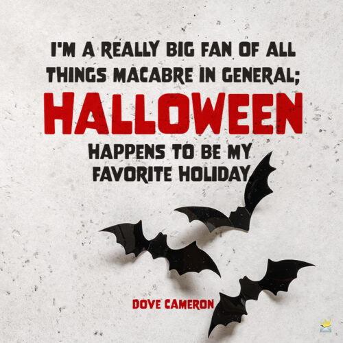 Halloween quote to share.