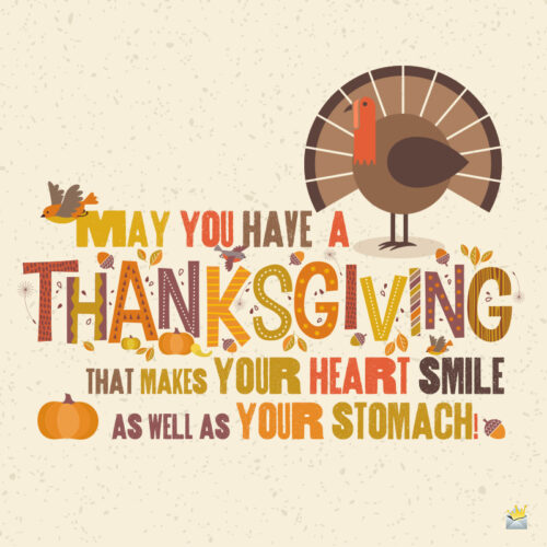 Thanksgiving message to make you smile.