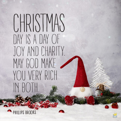 Christmas quote to inspire you.