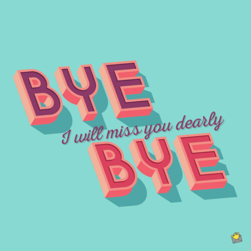 Farewell message for friend.