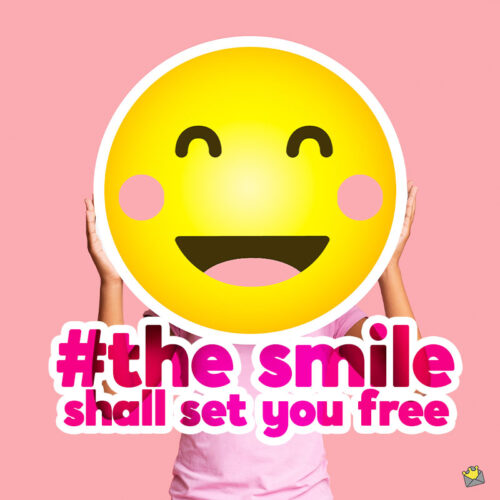 Smile caption for your photo posts on Instagram.
