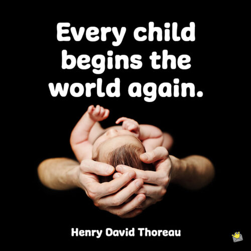 Baby quote to note and share.